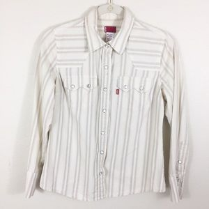 Levi's Western Shirt Size S Snap Buttons